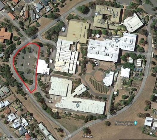 Alanvale aerial view indicating closed car park